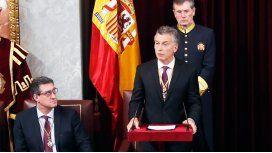 Mauricio Macri en el Parlamento español