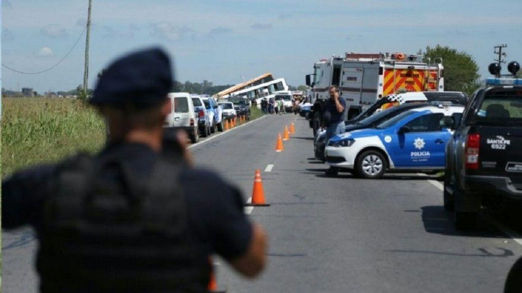 Choque de micros en Santa Fe - Crédito: Rosario 3