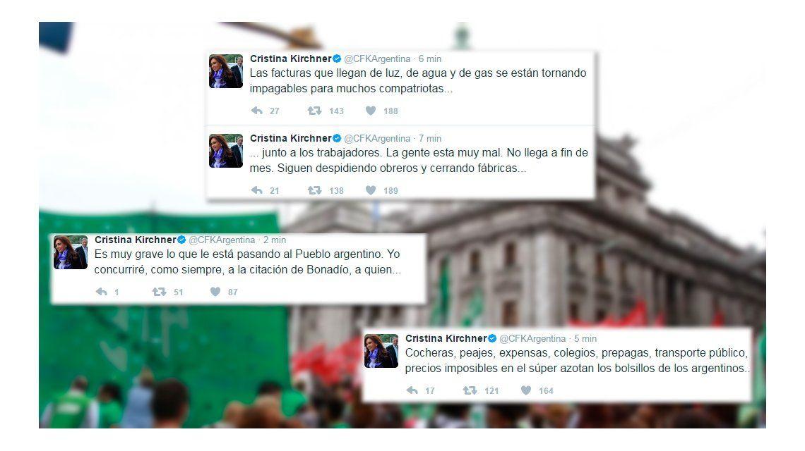 Cristina convocó a los trabajadores a acompañar la marcha de la CGT