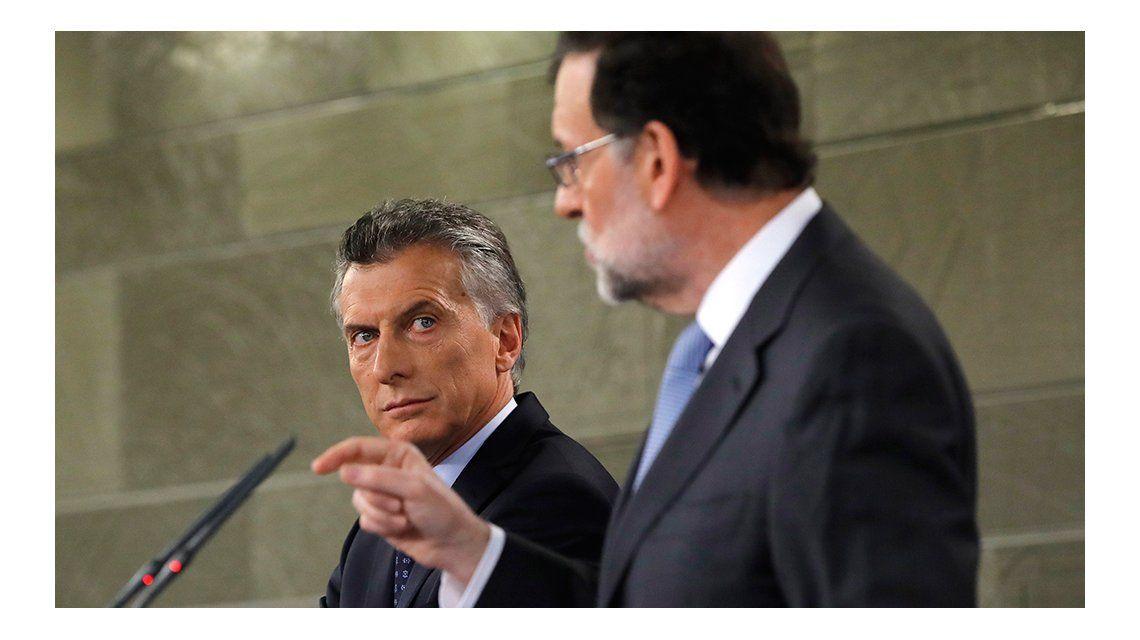 Mauricio Macri junto a Mariano Rajoy