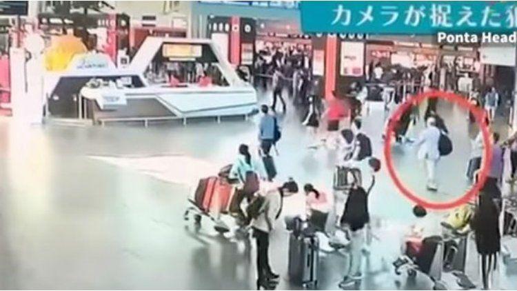 Las cámaras del aeropuerto registraron el ataque a Kim Jong-nan