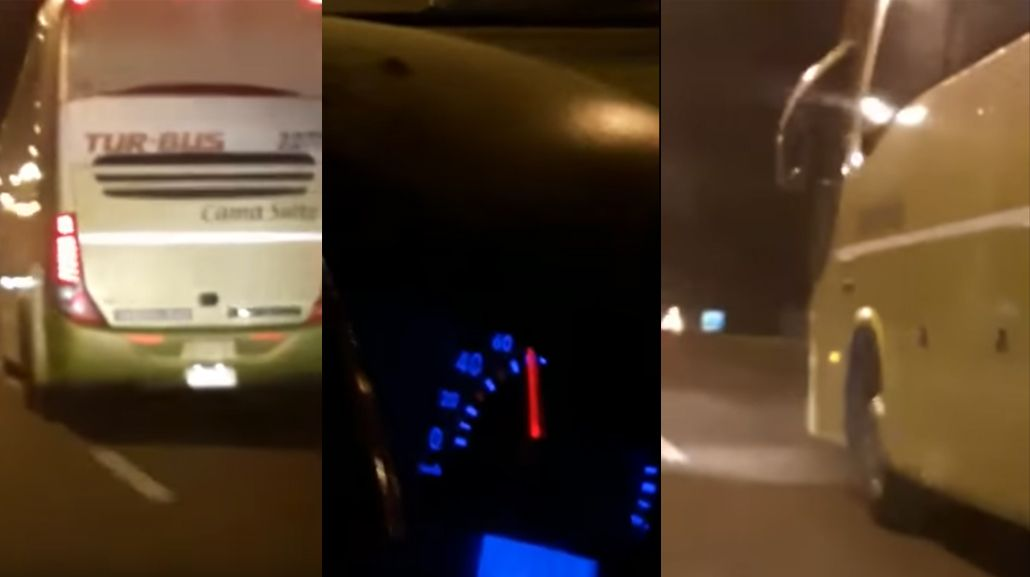 Escrachan a otro micro a 120 Km/h en Mendoza