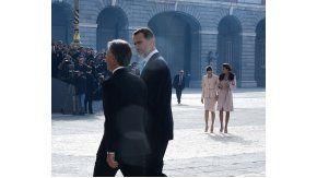 Los reyes de España recibieron a Macri y Awada