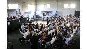 La asamblea de la AFA en Ezeiza