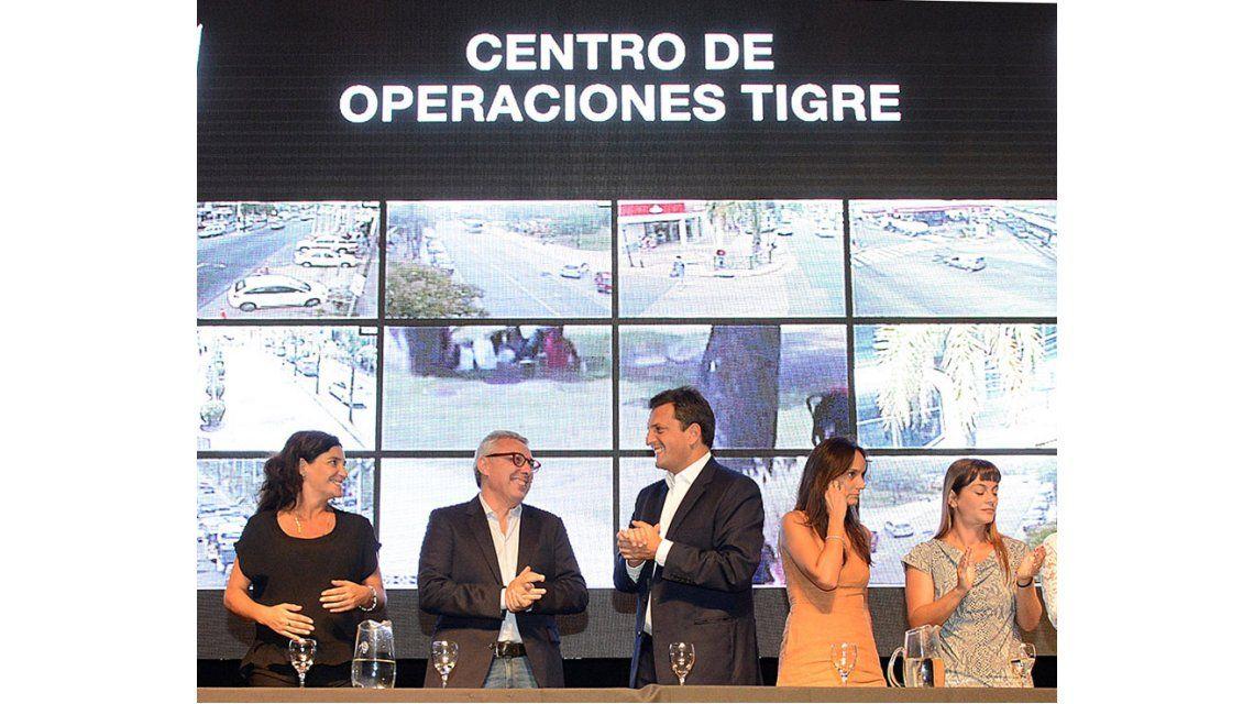 Zamora y Massa presentaron una plataforma global de seguridad en Tigre