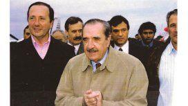 Antonio Berhongaray con Raúl Alfonsín