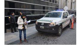 Operativo de Gendarmería en la Capital Federal. Foto archivo.