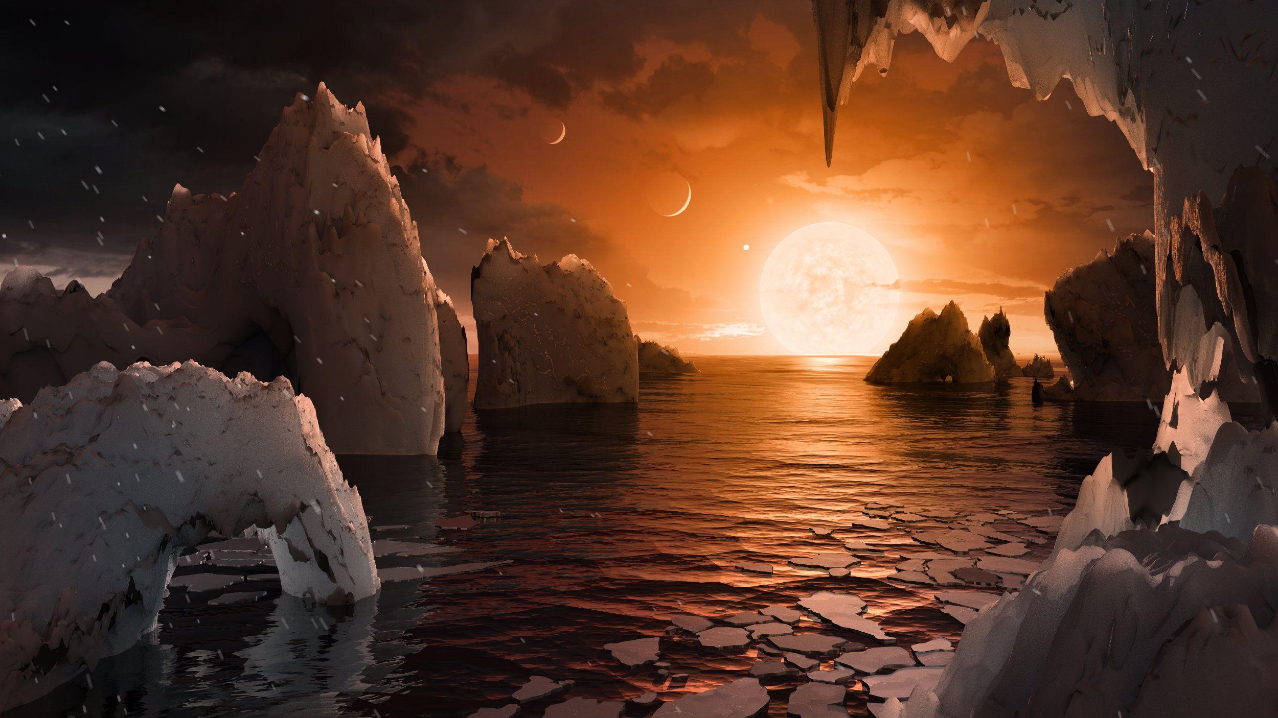 Así creen que se ven los planetas de Trappist-1