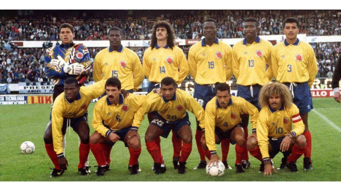 Selección Colombia de 1993 el día del 5 a 0 a la Argentina