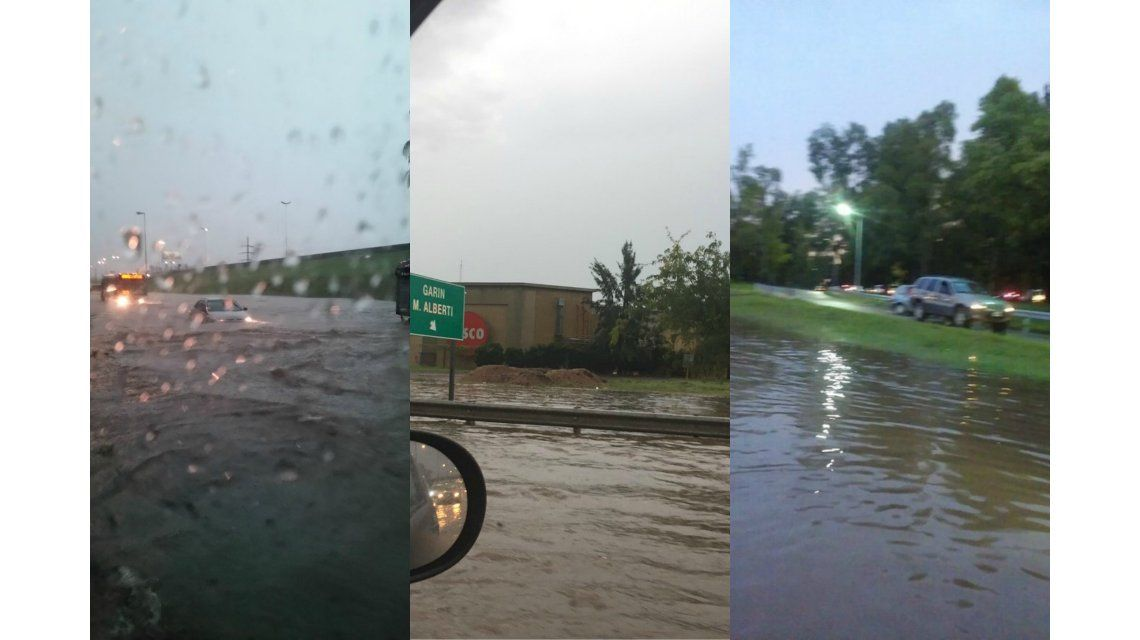 Panamericana inundada
