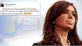Cristina criticó al Gobierno en Twitter