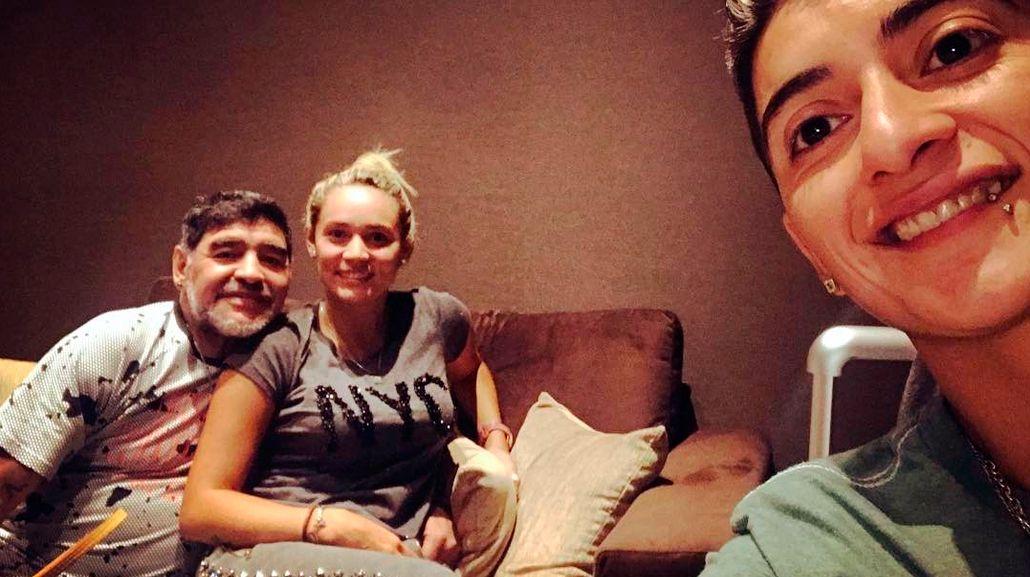 Morla contó cómo fue la pelea de Maradona con Rocío Oliva en Madrid