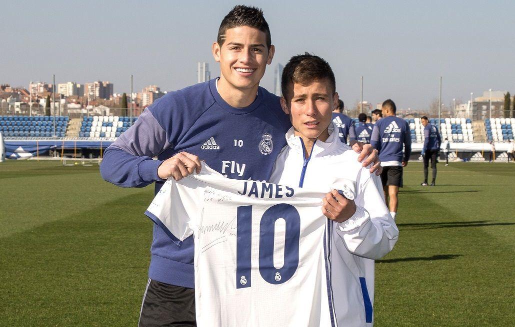 El Niño Ángel de Chapecoense conoció al planten de Real Madrid