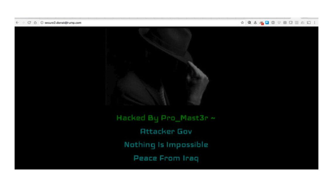El hacker Pro_Mast3r atacó la página de Donald Trump