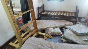 Así quedó la habitación de los argentinos