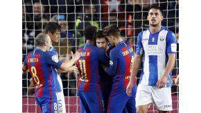 Con dos goles de Messi, el Barcelona le ganó al Leganés