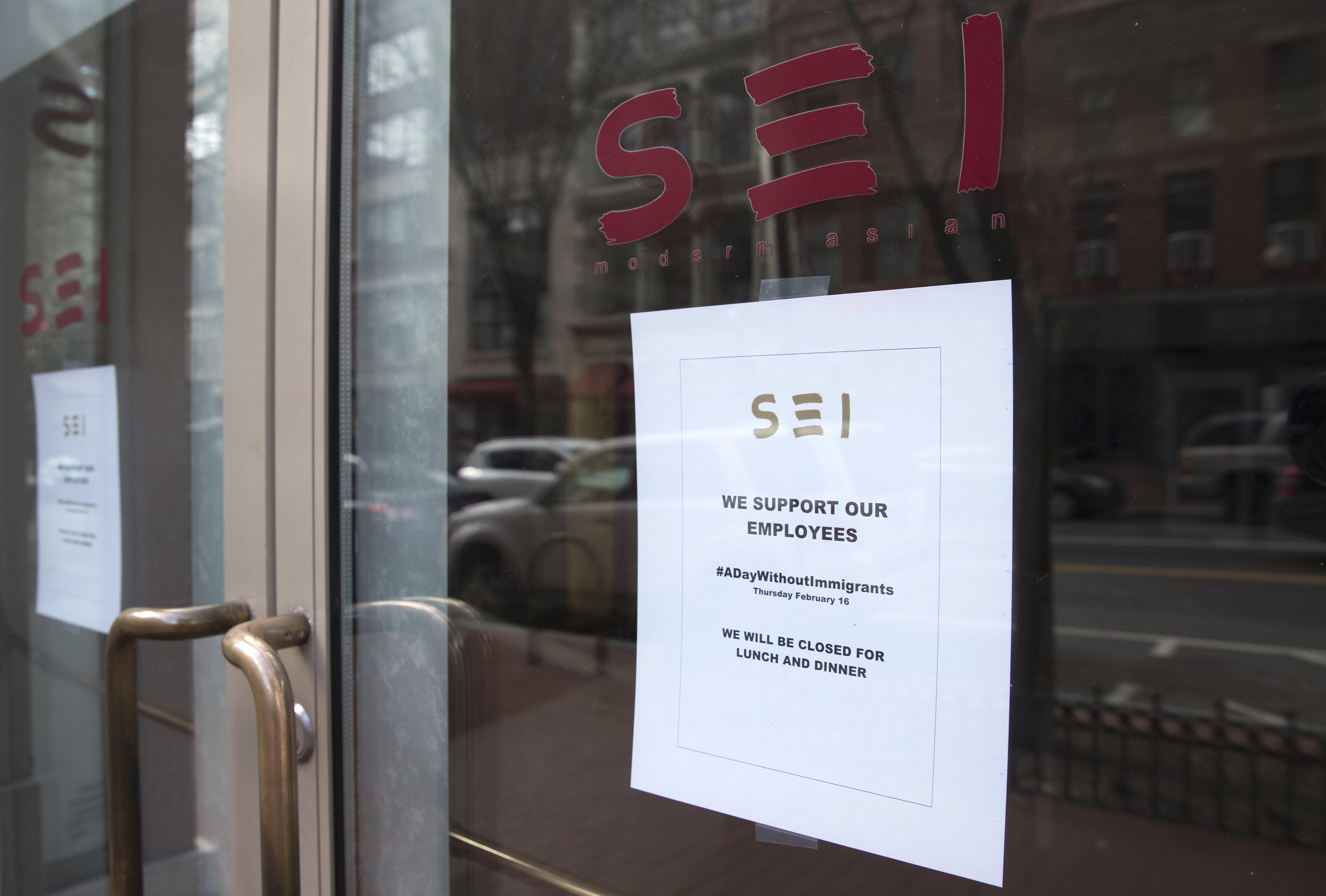 El restaurante asiático Sei se sumó a la protesta