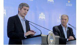 Marcos Peña y Oscar Aguad dan explicaciones sobre el polémico acuerdo