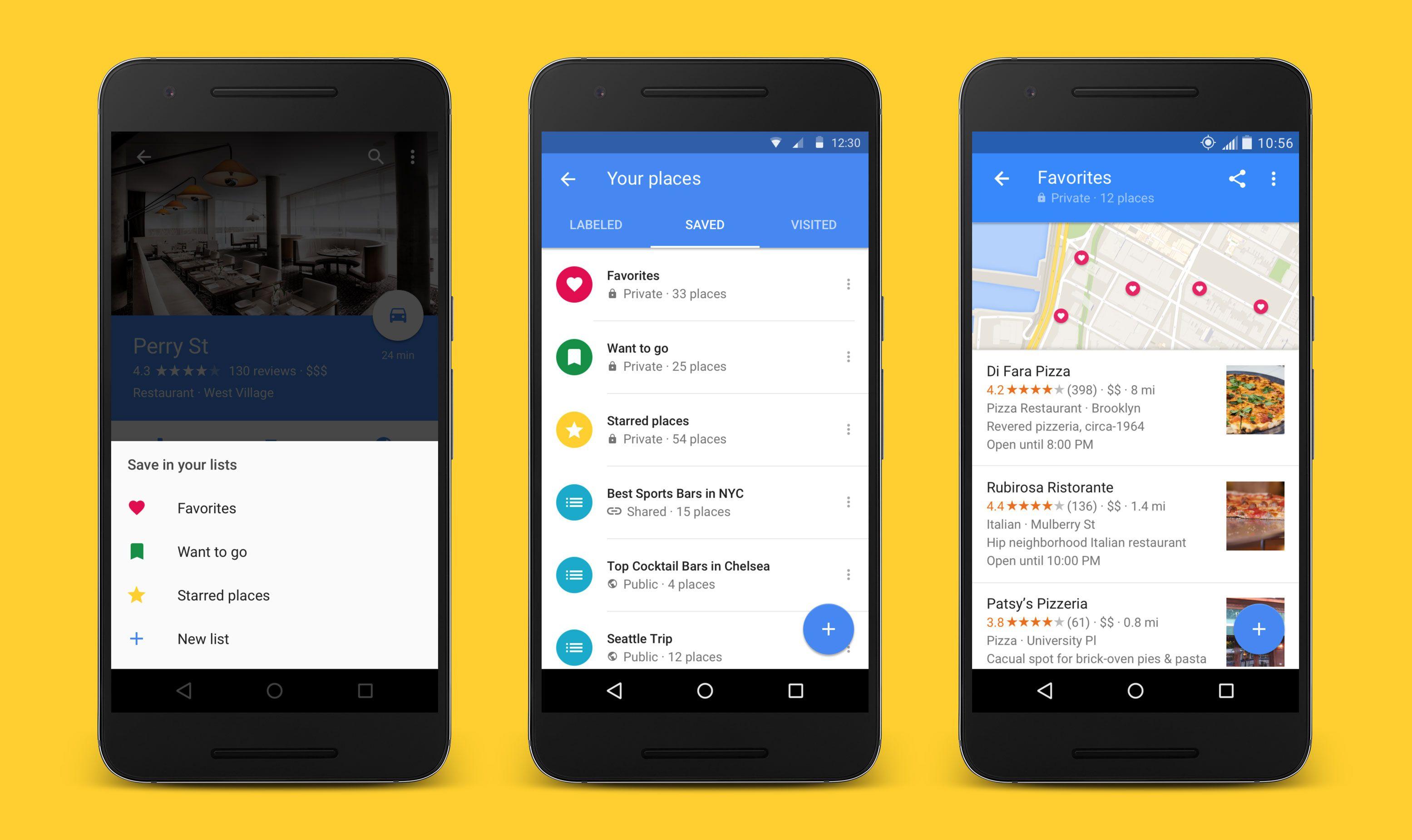 Google Maps permite guardar tus lugares favoritos en listas
