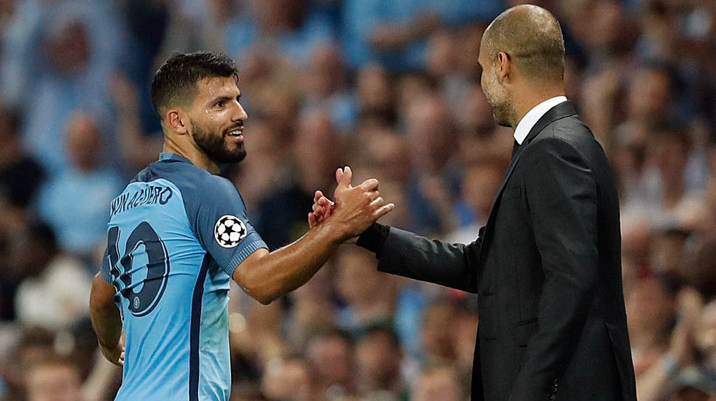 Guardiola reveló por qué el Kun Agüero es suplente en el Manchester City