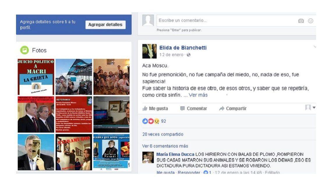 Los posts de la mujer del embajador en la Federación de Rusia
