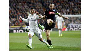 Casemiro ante Hamsik, en el Bernabéu por Champions