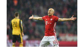 La celebración de Arjen Robben ante Arsenal