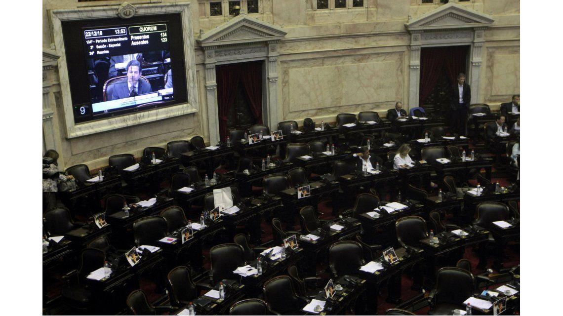 La Cámara de Diputados durante la última sesión de 2016