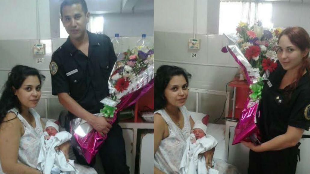 Policías ayudaron a una mamá a dar a luz