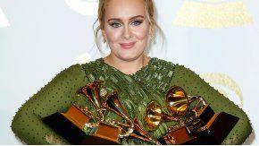 Adele fue la gran ganadora de los Grammy