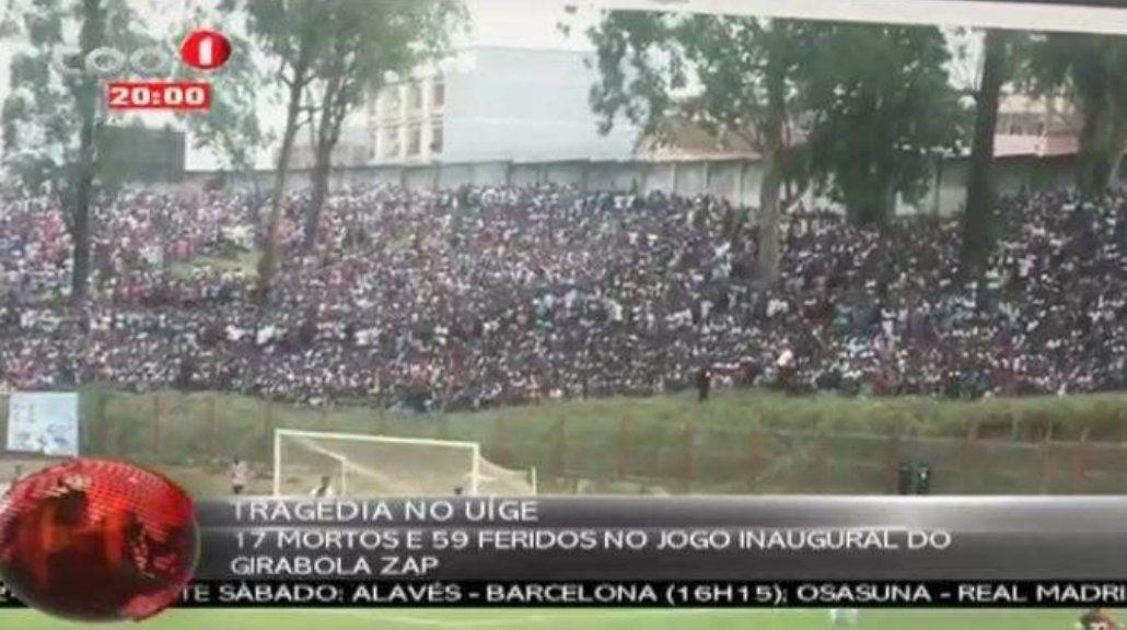 Tragedia en el futbol de Angola