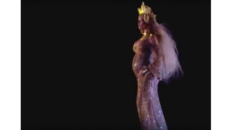 Show de Beyonce embarazadaen los Grammy