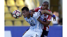 Leandro González ante Junior en Cartagena