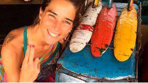 Juana Viale, de vacaciones en Hawaii