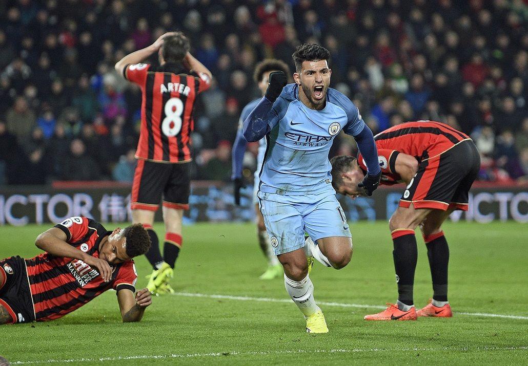 Kun Agüero puso el 2 a 0 del Manchester City anteBournemouth
