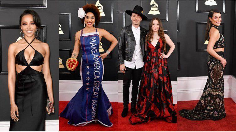 Premios Grammys 2017: looks de la alfombra roja