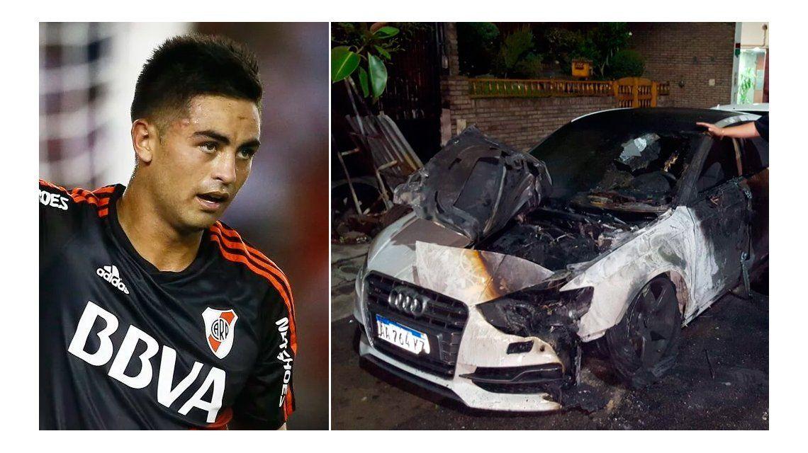 Le quemaron el auto al Pity Martínez: lo tenía en la puerta de la casa