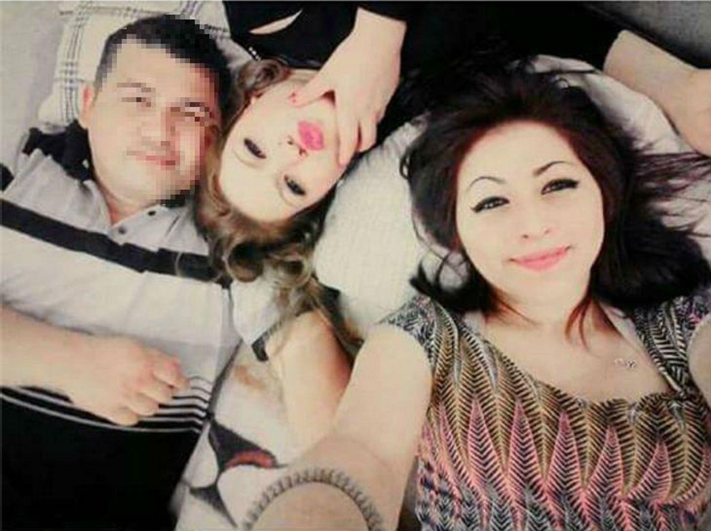 El detenido junto a las dos chicas asesinadas en la masacre de Florencio Varela