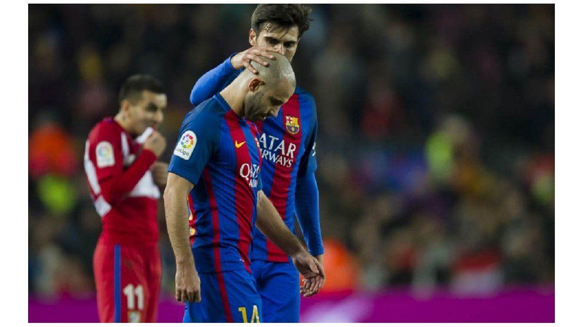 El argentino jugó menos de media hora y terminó con molestias