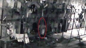 Captura del video que se viralizó con la supuesta aparición de un fantasma