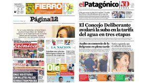 Tapas de diarios del sábado 11 de febrero de 2017