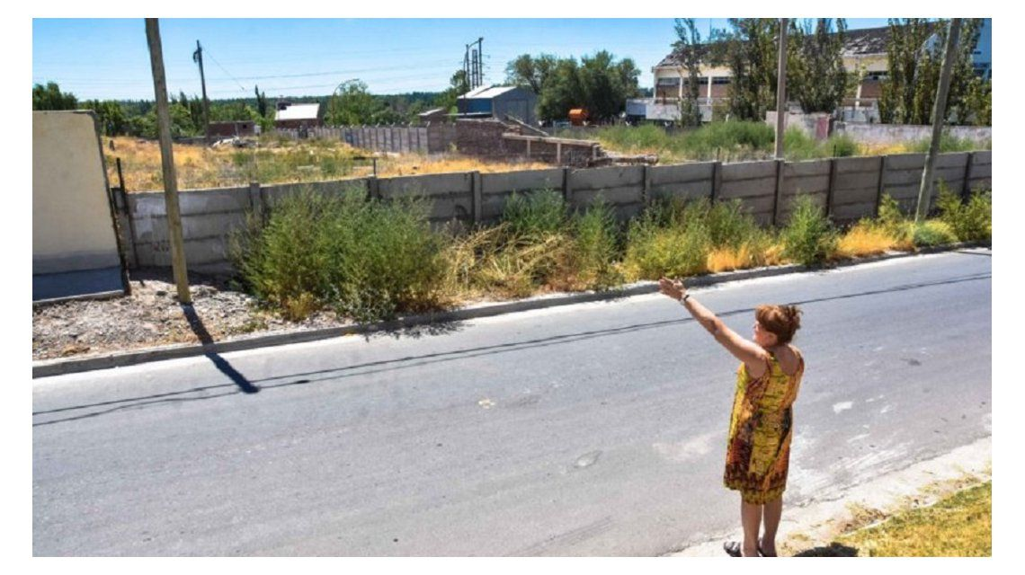 El terreno abandonado donde están los alacranes. Foto: La Mañana de Neuquén.
