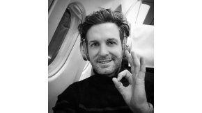 Axel minutos antes del incidente del avión de Aerolíneas en Nueva York