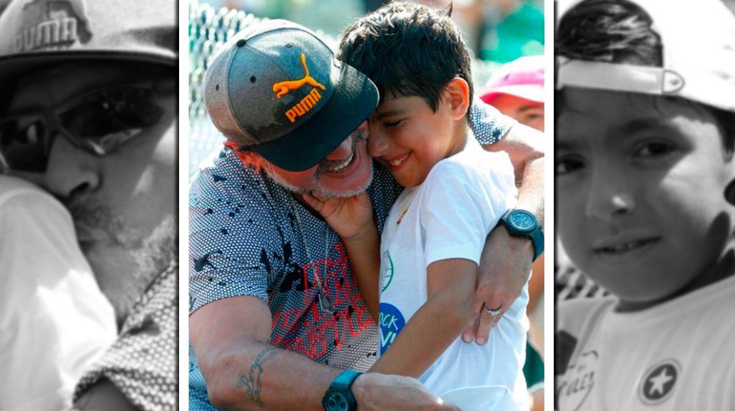 Diego Maradona y Benjamín Agüero juntos