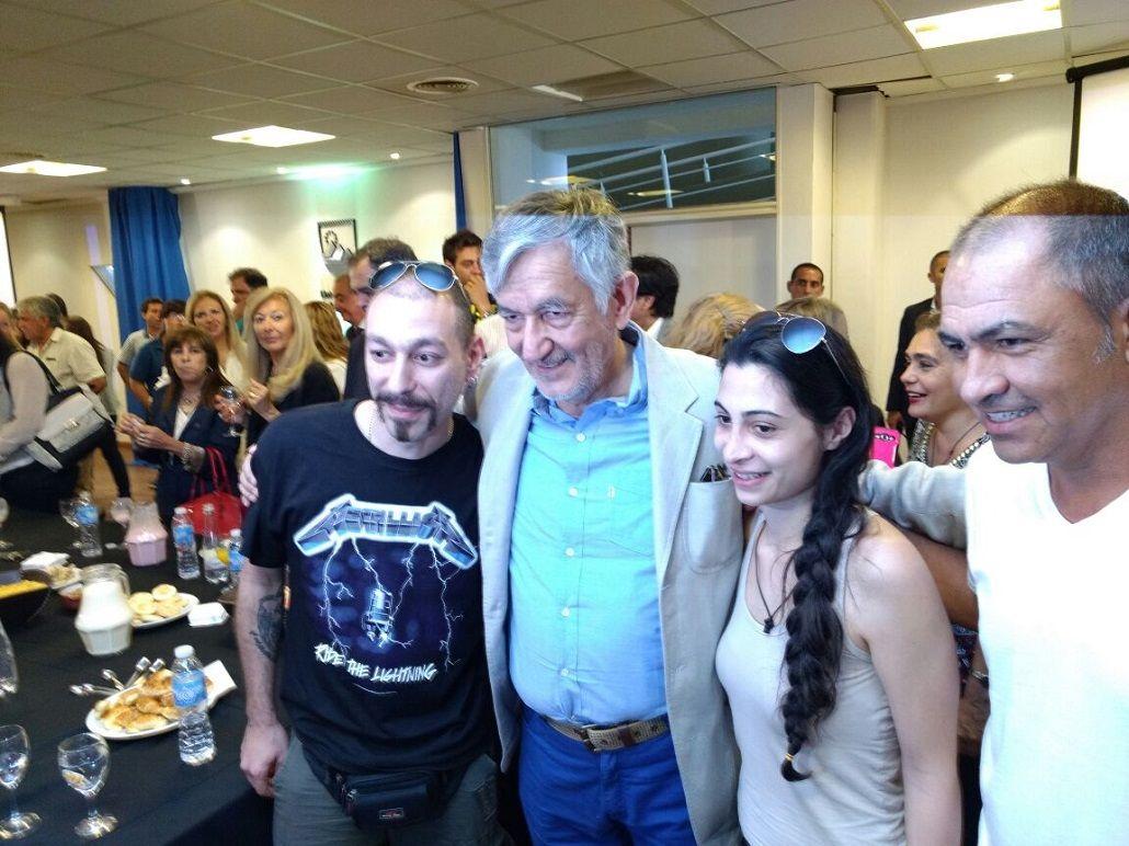 Rodríguez Saá recibió a una joven pareja de refugiados sirios