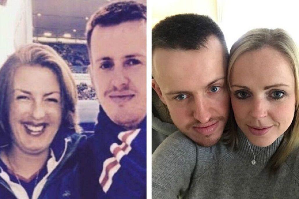 Jill Sharp con el hombre al que le robó la identidad y la pareja real