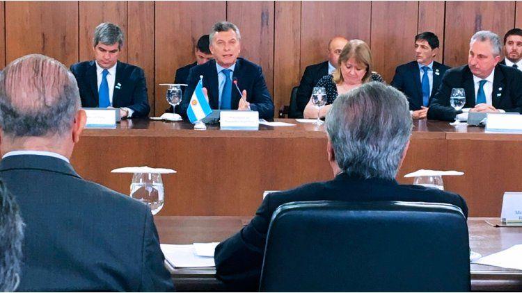 Reunión entre Mauricio Macri y Michel Temer