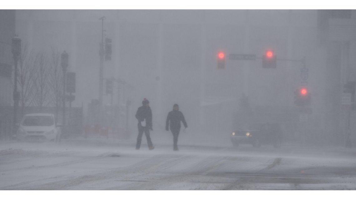 Un temporal de nieve golpeó el noreste de Estados Unidos