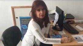 Cristina Kirchner se grabó haciendo trámites judiciales