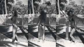 Jésica Cirio bailando muy sensual